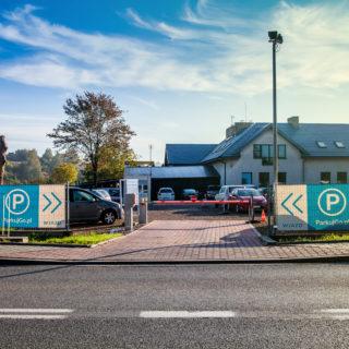 Parking Balice ParkujGo - widok wjazdu