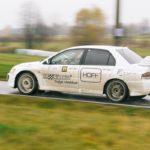 Maciej Steinhof i Dawid Filipowicz w Mitsubishi Lancer EVO 9