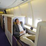 biznes klasa w samolocie